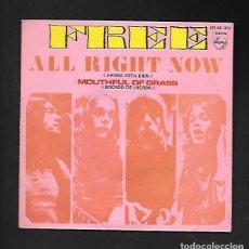"""Discos de vinilo: FREE ALL RIGHT NOW """" AHORA ESTA BIEN """", PHILIPS 60 68 013. Lote 214128552"""