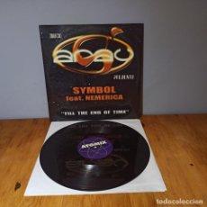 Discos de vinilo: MAXI SINGLE DISCO VINILO - DISCO S'ARAU PRESENTS SYMBOL FEAT. NEMERICA - TILL THE END OF TIME. Lote 214129297