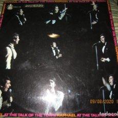 Discos de vinilo: RAPHAEL - AT THE TALK OF THE TOWN LP - ORIGINAL ESPAÑOL - HISPÀVOX RECORDS 1970 - STEREO -. Lote 214134126