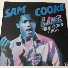 Discos de vinilo: SAM COOKE LIVE AT THE HARLEM SQUARE CLUB ED. ESPAÑOLA 1985. Lote 214139672