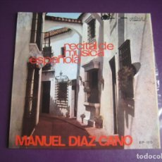 Discos de vinilo: MANUEL DIAZ CANO EP PALOBAL - RECITAL DE MUSICA ESPAÑOLA 1971 - ALBENIZ - TARREGA - YEPES - CLASICA. Lote 214140907