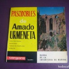 Discos de vinil: PASODOBLES DE AMADO URMENETA EP VERGARA 1963 - BANDA INFANTERIA MARINA - CIELO DE RONDA +3 -. Lote 214140962