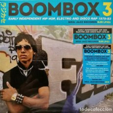 Discos de vinilo: 3 LP BOOMBOX 3 (EARLY INDEPENDENT HIP HOP, ELECTRO AND DISCO RAP 1979-83) - SOUL JAZZ - NUEVO !!*. Lote 214141571