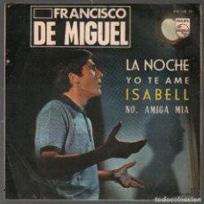 Discos de vinil: FRANCISCO DE MIGUEL - LA NOCHE / YO TE AME / ISABELL / NO, AMIGA MIA (EP PHILIPS DE 1965) RF-4422. Lote 214154471