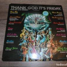 Discos de vinilo: VARIOS - BSO 'POR FIN YA ES VIERNES' / OST 'THANK GOD IT'S FRIDAY' (3LPS). Lote 214155945