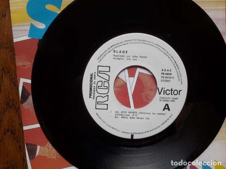 Discos de vinilo: Slade - all join hands (demonos las manos) + heres to.... - Foto 3 - 214182308