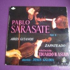 Discos de vinilo: AIRES GITANOS - PABLO SARASATE - EDUARDO ASIAIN EP HISPAVOX CLASICA 1959 - POCO USO. Lote 214190445