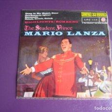 Discos de vinilo: MARIO LANZA EP RCA 195? 33 RPM - STUDENT PRINCE BSO CINE OPERA - DEEP IN MY HEART, DEAR +3 -. Lote 214193546