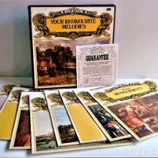 Discos de vinilo: YOUR 101 FAVOURITE MELODIES - ALBUM 8 VINILOS + CERTIFICADO. Lote 214213211