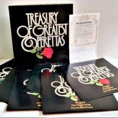 Discos de vinilo: TREASURY OF GREATEST OPERETTAS - ALBUM 6 VINILOS + CERTIFICADO. Lote 214213431