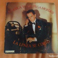 Discos de vinilo: SINGLE , ALASKA Y DINARAMA / LA LINEA SE CORTO / REACCIONES , VER FOTOS. Lote 214219731