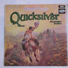 Discos de vinilo: QUICKSILVER. HAPPY TRAILS. E-ST 120. ENGLAND 1969. DISCO VG+. CARÁTULA VG+.. Lote 214222953
