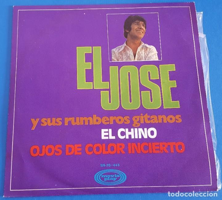SINGLE / EL JOSÉ Y SUS RUMBEROS GITANOS / EL CHINO - OJOS DE COLOR INCIERTO / MOVIEPLAY 1970 (Música - Discos - Singles Vinilo - Solistas Españoles de los 70 a la actualidad)