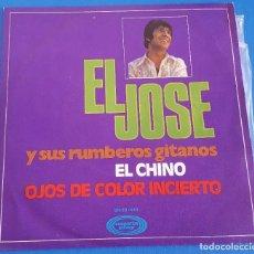 Discos de vinilo: SINGLE / EL JOSÉ Y SUS RUMBEROS GITANOS / EL CHINO - OJOS DE COLOR INCIERTO / MOVIEPLAY 1970. Lote 214225742