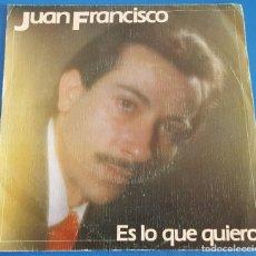 Discos de vinilo: SINGLE / JUAN FRANCISCO / ES LO QUE QUIERO - NOMBRE DE MUJER / XIRIVELLA RECORDS 1983. Lote 214225958