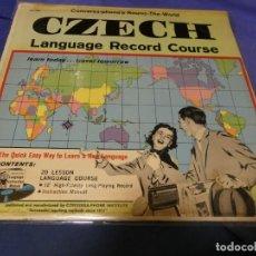 Discos de vinilo: BOXX53 LP USA 1961 METODO APRENDER CHECO MUY BONITO Y EN BUEN ESTADO. Lote 214231592