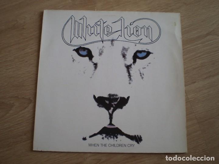 MAXI 12 PULGADAS. WHITE LION. WHEN THE CHILDREN CRY. AÑO 1987. BUENA CONSERVACION (Música - Discos de Vinilo - Maxi Singles - Heavy - Metal)
