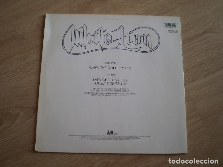 Discos de vinilo: MAXI 12 PULGADAS. WHITE LION. WHEN THE CHILDREN CRY. AÑO 1987. BUENA CONSERVACION - Foto 3 - 214234797
