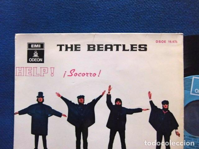 Discos de vinilo: BEATLES SINGLE EP RE EDICION LABEL AZUL CIELO BANDA SONORA PELICULA SOCORRO EMI ODEON ESPAÑA - Foto 2 - 214264230