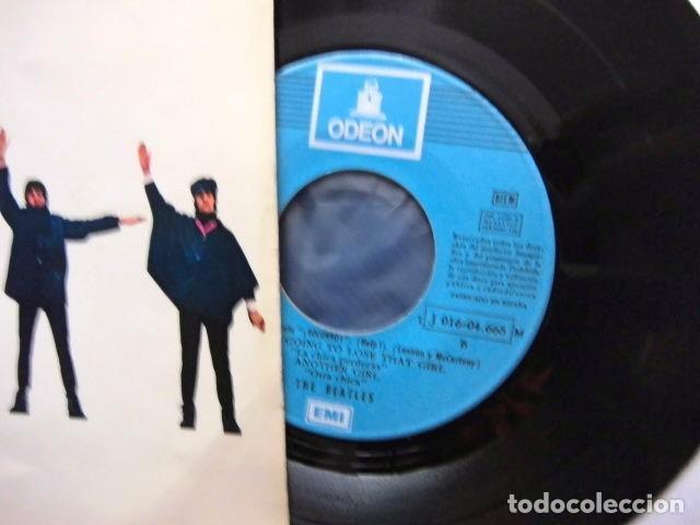 Discos de vinilo: BEATLES SINGLE EP RE EDICION LABEL AZUL CIELO BANDA SONORA PELICULA SOCORRO EMI ODEON ESPAÑA - Foto 4 - 214264230