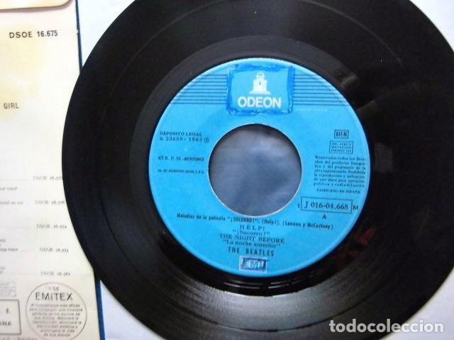 Discos de vinilo: BEATLES SINGLE EP RE EDICION LABEL AZUL CIELO BANDA SONORA PELICULA SOCORRO EMI ODEON ESPAÑA - Foto 7 - 214264230