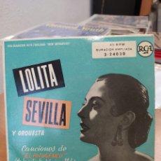 Discos de vinilo: LOLITA SEVILLA–CANCIONES DE EL FOTOGÉNICO . EP 1959.. Lote 214277611