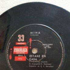 Discos de vinilo: MINA :SINGLE EDICION ARGENTINA RARA PIEZA COLECCIONABLE OPORTUNIDAD MUSICA ITALIA. Lote 214284220