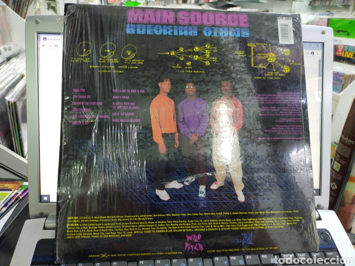 Discos de vinilo: Main source lp breaking atoms u.s.a. 1991 original en perfecto estado - Foto 2 - 214285208