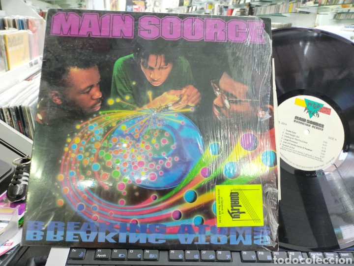 MAIN SOURCE LP BREAKING ATOMS U.S.A. 1991 ORIGINAL EN PERFECTO ESTADO (Música - Discos - LP Vinilo - Rap / Hip Hop)