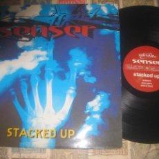 Discos de vinilo: SENSER STACKED UP (TACKED UP XX1994 ) OG LONDON EXCELENTE CONDICION. Lote 214297123