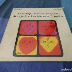 Discos de vinilo: RCH56 LP USA ANTINQUISIMO GRAN GROSOR Y MUY BUEN ESTADO RAY CHARLES SINGERS SONGS FOR LONESOME LOVER. Lote 214355167