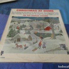 Discos de vinilo: RCH56 LP USA ANTINQUISIMO GRAN GROSOR Y MUY BUEN ESTADO RAY CHARLES SINGERS CHRISTMAS AT HOME. Lote 214355347