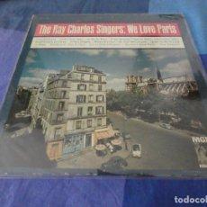 Discos de vinilo: RCH56 LP USA ANTINQUISIMO GRAN GROSOR Y MUY BUEN ESTADO RAY CHARLES SINGERS WE LOVE PARIS. Lote 214355405