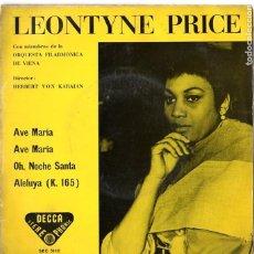 Discos de vinilo: LEONTYNE PRICE****AVE MARIA*** OH, NOCHE SANTA***ALELUYA. Lote 46605706
