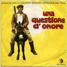 Discos de vinilo: LUIS ENRIQUE BACALOV - UNA QUESTIONE D'ONORE (BSO) - EP PROMO ITALIA 1965 - RICORDI SRL 10-412. Lote 214370761