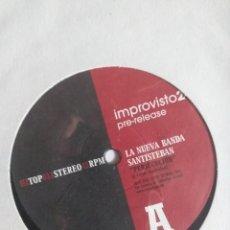 Discos de vinilo: IMPROVISTO 2 NUEVA BANDA SANTIESTEBAN/CANDEIAS LATIN JAZZ GROOVE ESPAÑA 2003 PRE RELEASE NM. Lote 214372495