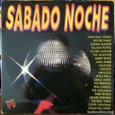 Discos de vinilo: SABADO NOCHE - VERSIONES ORIGINALES. Lote 214379292