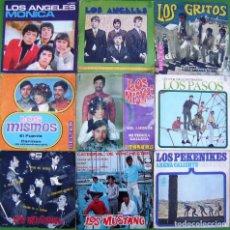 Discos de vinilo: LOTE 9 SINGLES: LOS ÁNGELES, PASOS, MISMOS, MUSTANG, GRITOS, PEKENIKES. Lote 214393186