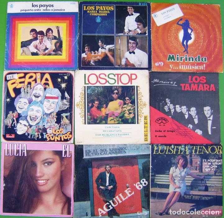 LOTE 9 SINGLES: LOS PAYOS, PUNTOS, LOS STOP, TAMARA, LUISITA TENOR, LIS AGUILE, LUCIA (Música - Discos - Singles Vinilo - Grupos Españoles 50 y 60)