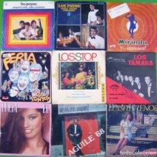 Discos de vinilo: LOTE 9 SINGLES: LOS PAYOS, PUNTOS, LOS STOP, TAMARA, LUISITA TENOR, LIS AGUILE, LUCIA. Lote 214393233