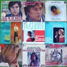 Discos de vinilo: LOTE 9 SINGLES: MARCOS, MANOLO OTERO, MARIA OSTIZ, MICKY, MARI TRINI, M.D.PRADERA. Lote 214393273