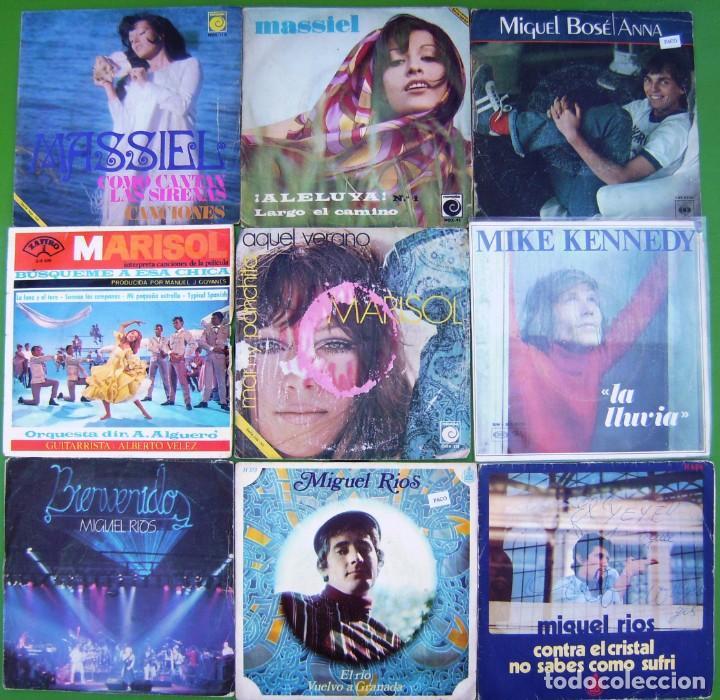 LOTE 9 SINGLES: MARISOL, MIGUEL RIOS, MASSIEL, MIKE KENNEDY, MIGUEL BOSÉ (Música - Discos - Singles Vinilo - Solistas Españoles de los 50 y 60)