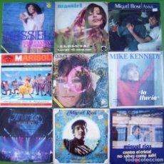 Discos de vinilo: LOTE 9 SINGLES: MARISOL, MIGUEL RIOS, MASSIEL, MIKE KENNEDY, MIGUEL BOSÉ. Lote 214393308