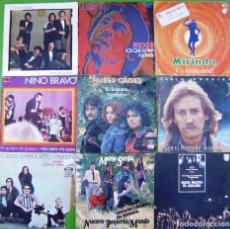 Discos de vinilo: LOTE 9 SINGLES: MOCEDADES, MOCHI, PABLO ABRAIRA, NUESTRO PEQUEÑO MUNDO, NUBES GRISES, NM JUGLARIA,. Lote 214393390