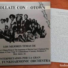 Discos de vinilo: ENROLLATE CON MOTOWN -MAXISINGLE PROMOCIONAL INCLUYE HOJA DE PRENSA 1982. Lote 214442997
