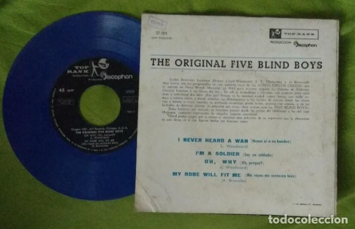 Discos de vinilo: Five Blind Boys: NEGRO SPIRITUALS - I never heard a man + 3 (TOP RANK DISCOPHON 1961) - Foto 2 - 214445606