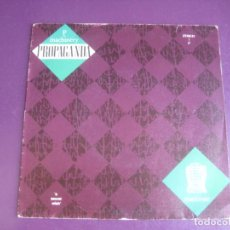 Discos de vinilo: PROPAGANDA – P: MACHINERY (REACTIVATE) +1 SG ISLAND 1985 - ELECTRONICA SYNTH TECNO POP 80'S -. Lote 214462011