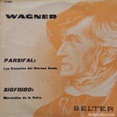 Discos de vinilo: WAGNER. PARSIFAL. SIGFRIDO. ORQUESTA ESTADO WURTTEMBERG. JONEL PERLA. EP ESPAÑA. Lote 214471133