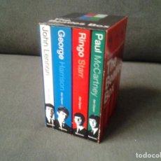 Discos de vinilo: THE BEATLES BOX 4 LIBROS BIOGRAFIA DE LOS BEATLES -ALAN CLAYSON, SANCTUARY PUBLISHING 2003 ED. ORI. Lote 214476400