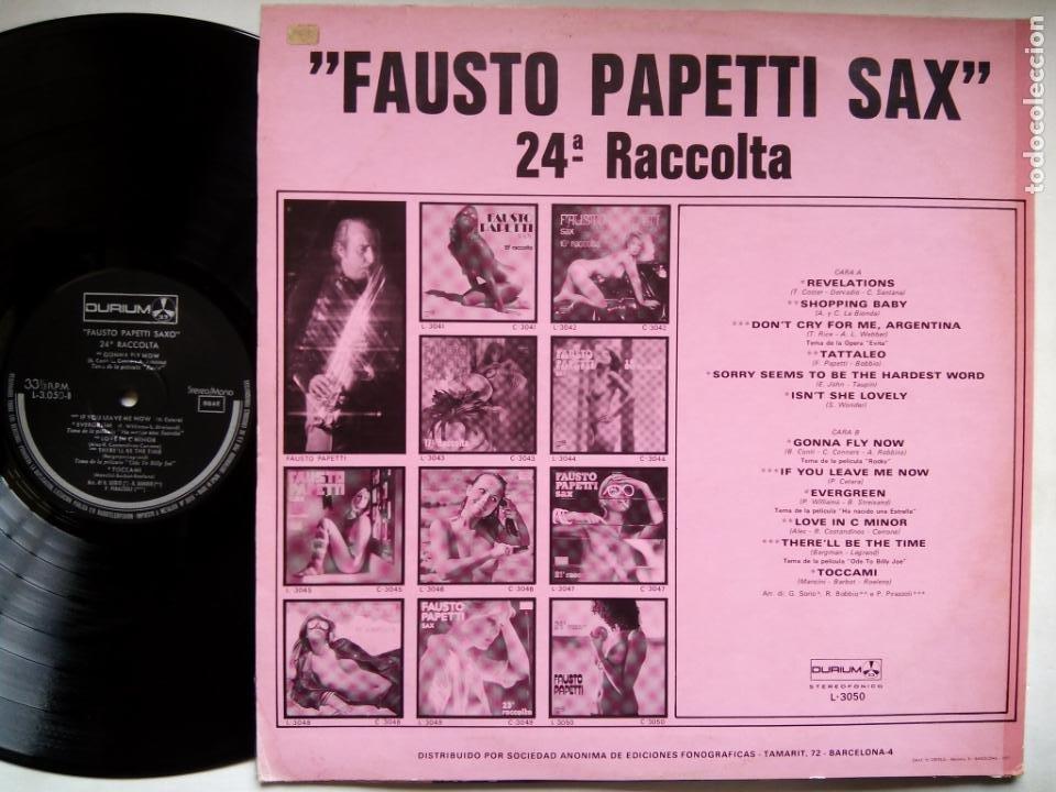 Discos de vinilo: FAUSTO PAPETTI SAX. 24ª RACCOLTA. LP DURIUM L-3050. ESPAÑA 1977. NUDE COVER CENSURADA. - Foto 2 - 214481152